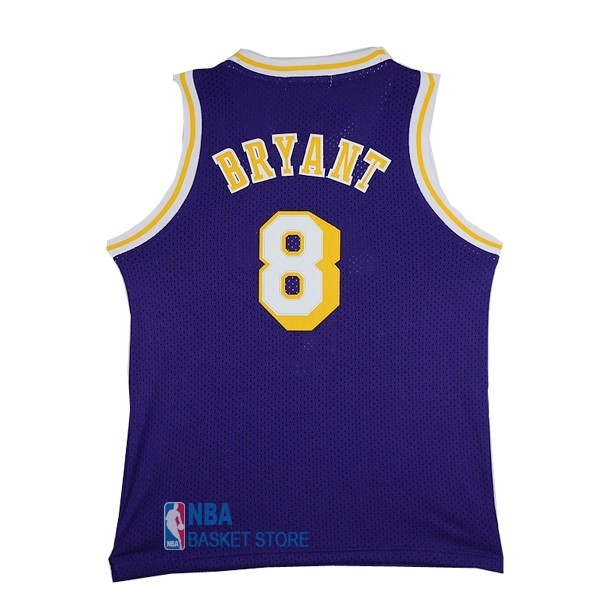 Achat Maillot NBA Los Angeles Lakers NO.8 Kobe Bryant Pourpre