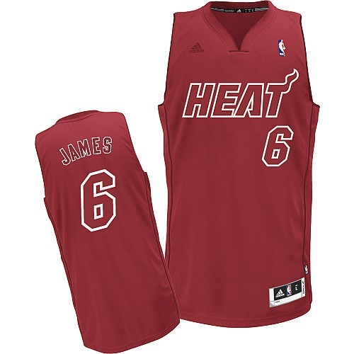 Achat Maillot NBA Miami Heat 2012 Noël NO.6 James Rouge