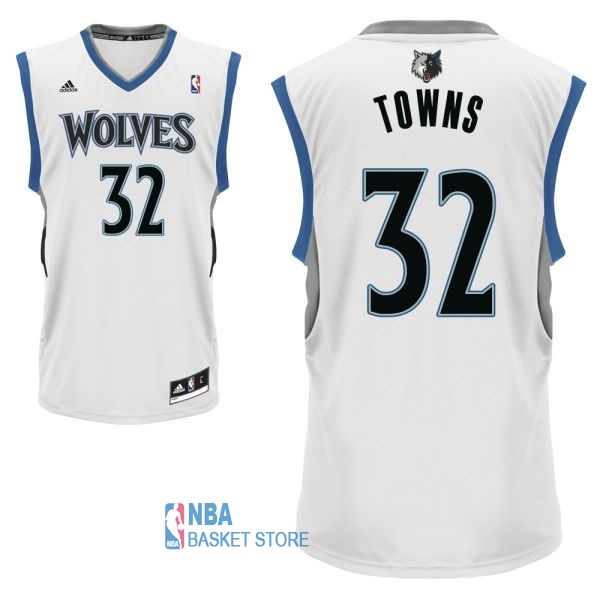 Achat Maillot NBA Minnesota Timberwolves NO.32 Karl Anthony Towns Blanc