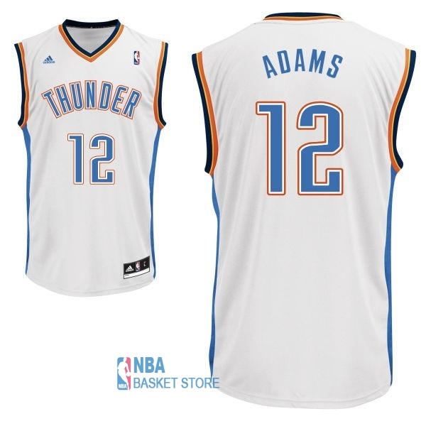 Achat Maillot NBA Oklahoma City Thunder NO.12 Steven Adams Blanc