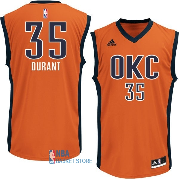 Achat Maillot NBA Oklahoma City Thunder NO.35 Kevin Durant Orange