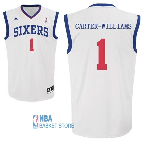 Achat Maillot NBA Philadelphia Sixers NO.1 Michael Carter Williams Blanc