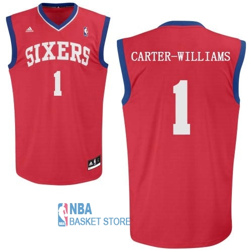 Achat Maillot NBA Philadelphia Sixers NO.1 Michael Carter Williams Rouge