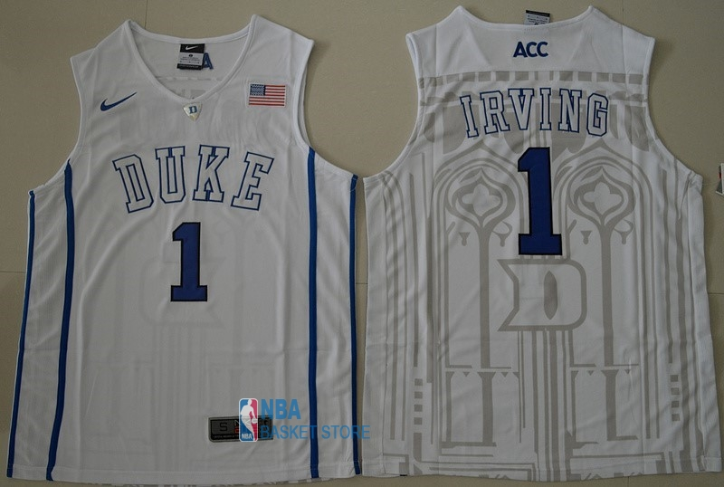 Achat Maillot NCAA Duke NO.1 Kyrie Irving Blanc