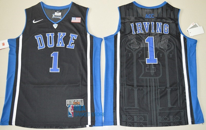 Achat Maillot NCAA Duke NO.1 Kyrie Irving Noir