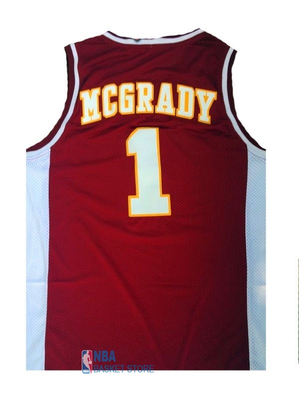 Achat Maillot NCAA Mountzion NO.1 Tracy McGrady Rouge