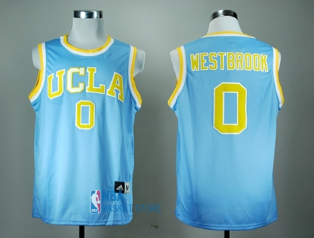 Achat Maillot NCAA UCLA NO.0 Russell Westbrook Bleu