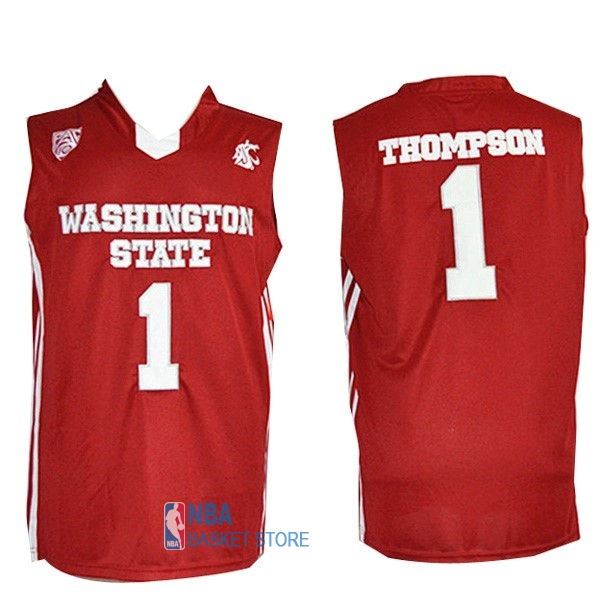 Achat Maillot NCAA Washington State NO.1 Thompson Rouge