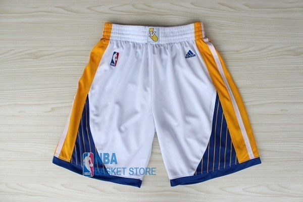 Achat Short Basket Golden State Warriors Blanc