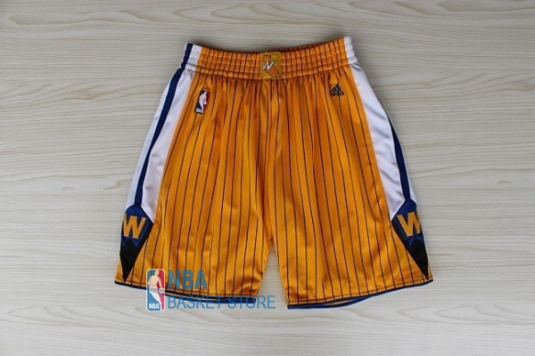 Achat Short Basket Golden State Warriors Jaune