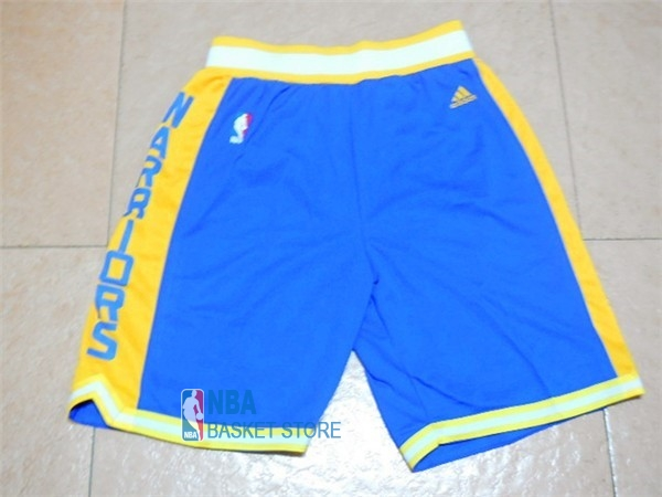 Achat Short Basket Golden State Warriors Retro Bleu