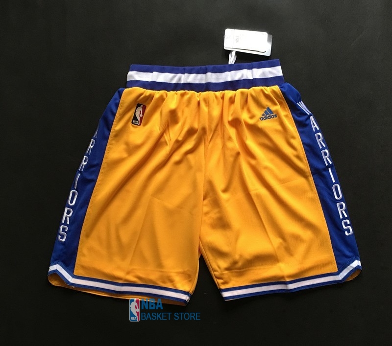 Achat Short Basket Golden State Warriors Retro Jaune