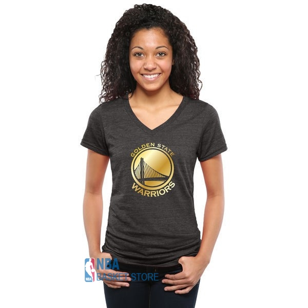 Achat T-Shirt Femme Golden State Warriors Noir Or