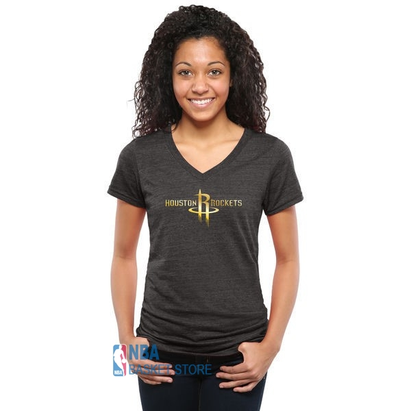 Achat T-Shirt Femme Houston Rockets Noir Or