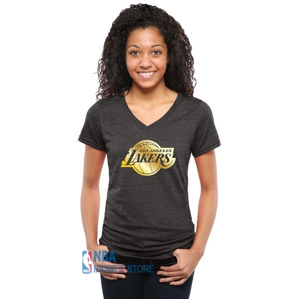 Achat T-Shirt Femme Los Angeles Lakers Noir Or